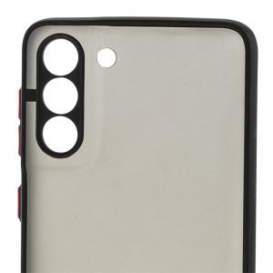 Удароустойчив калъф Color Button Bumper за Samsung Galaxy S21 Plus,Черен