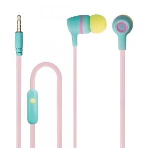 Слушалки с микрофон JSE-200 jack 3.5 mm, Розови