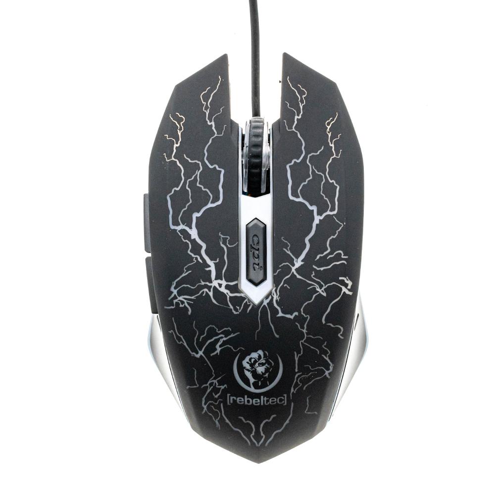 Геймърска Мишка Rebeltec Diablo, 2400DPI, Черен