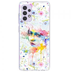Силиконов калъф ArtDesign за Samsung Galaxy A72, Flowers Lady