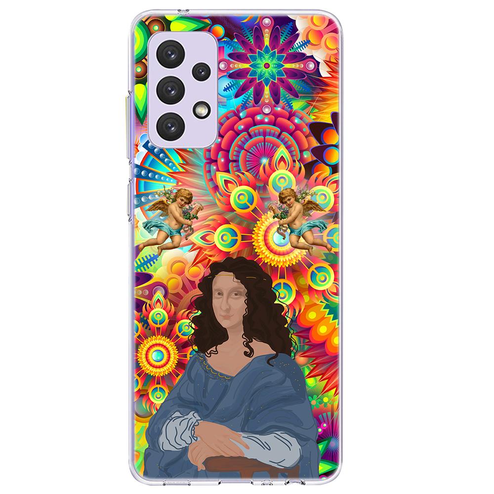 Силиконов калъф ArtDesign за Samsung Galaxy A72, Арт Мона Лиза