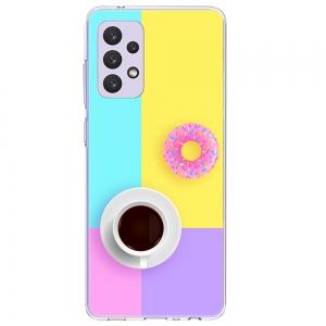 Силиконов калъф ArtDesign за Samsung Galaxy A72, Кафе и поничка