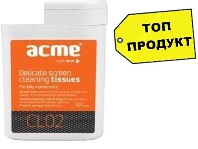 ПОЧИСТВАЩИ КЪРПИЧКИ ЗА LCD/TFT ACME SCREEN CLEANING TISSUES