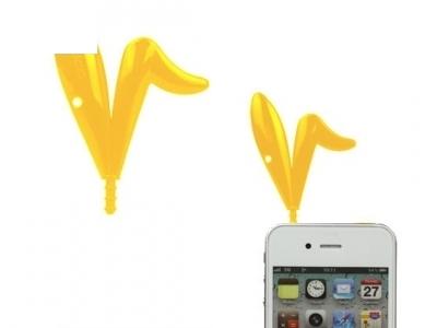 PVC УШИЧКИ НА ЗАЙЧЕ ЗА iPhone 3G / 3GS - Yellow